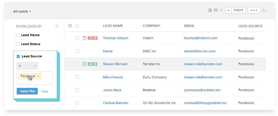 zoho crm email insight survey campaign score